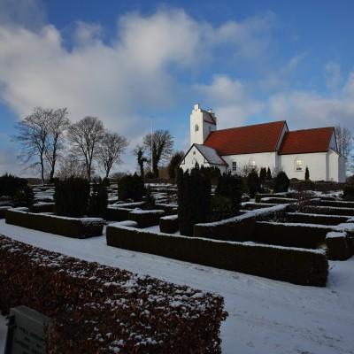 Elsted Kirke vinter 2016